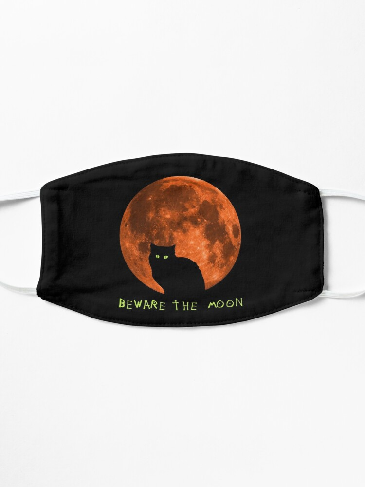 Alternate view of Black Cat   Beware The Moon   Halloween Mask