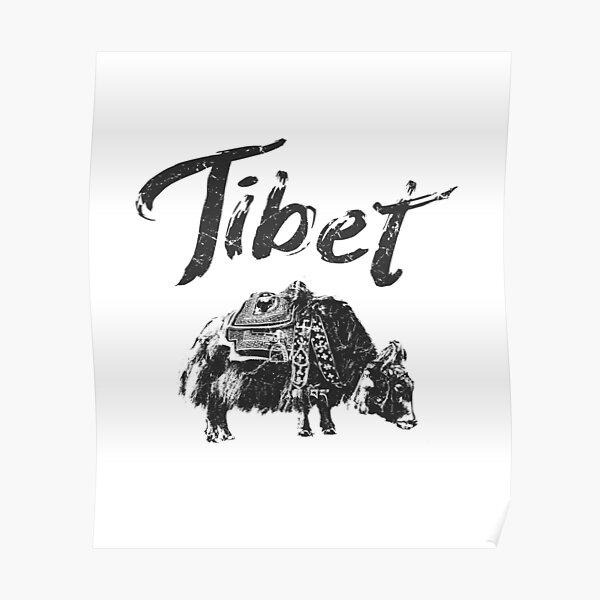 Tibet Yak Tibetan Poster