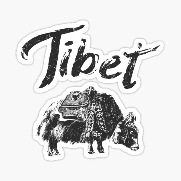 Tibet Yak Tibetan Sticker