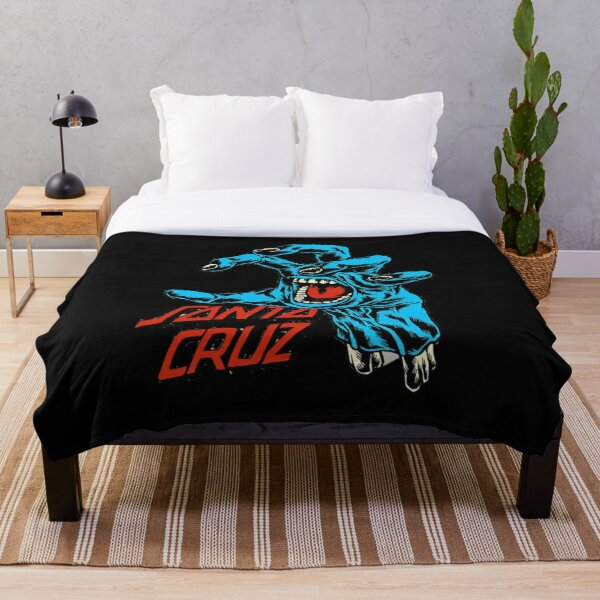 santa cruz sign - skateboards Throw Blanket
