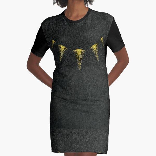 Wakanda Forever (Gold) Graphic T-Shirt Dress