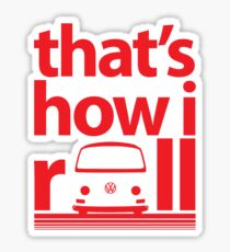 How I Roll Early Bay Red Sticker