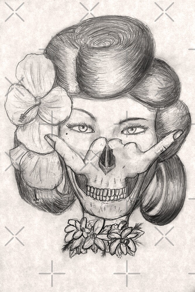 Hula Girl With the Skull Tattoo by giovonni808