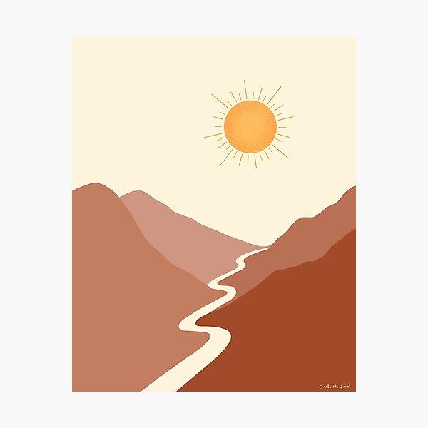 Boho Sunset Photographic Print