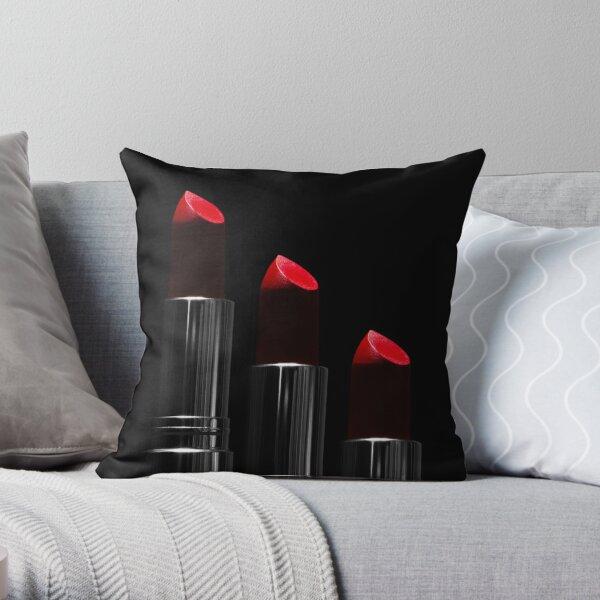 Lipstick Love - III Throw Pillow