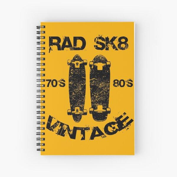 Old School Decks, Vintage Skate 70s and 80s Spiral Notebook