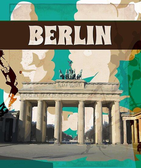 Berlin Vintage Travel Poster von vectorwebstore