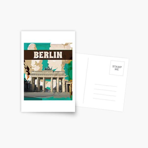 Berlin Vintage Travel Poster Postcard