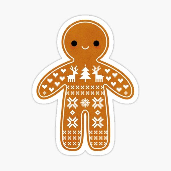 Sweater Pattern Gingerbread Cookie Sticker
