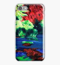 Blue swamp iPhone Case/Skin