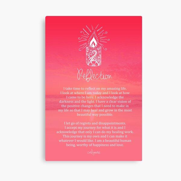 Affirmation - Reflection Canvas Print