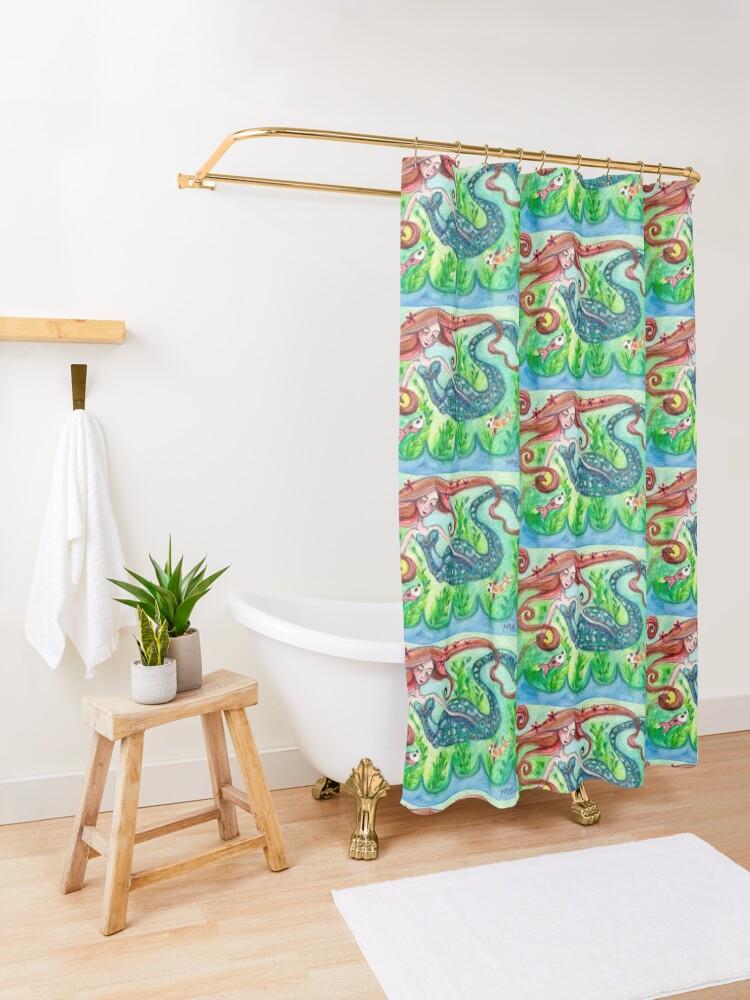 Alternate view of Underwater Star  Shower Curtain