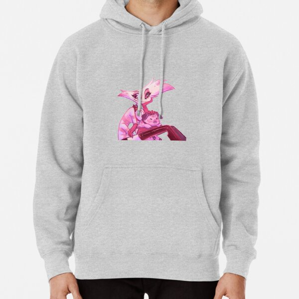 Hazbin Hotel - Angel dust and fat nuggets Pullover Hoodie