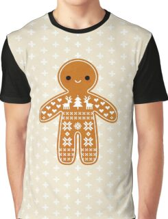 Sweater Pattern Gingerbread Cookie Graphic T-Shirt