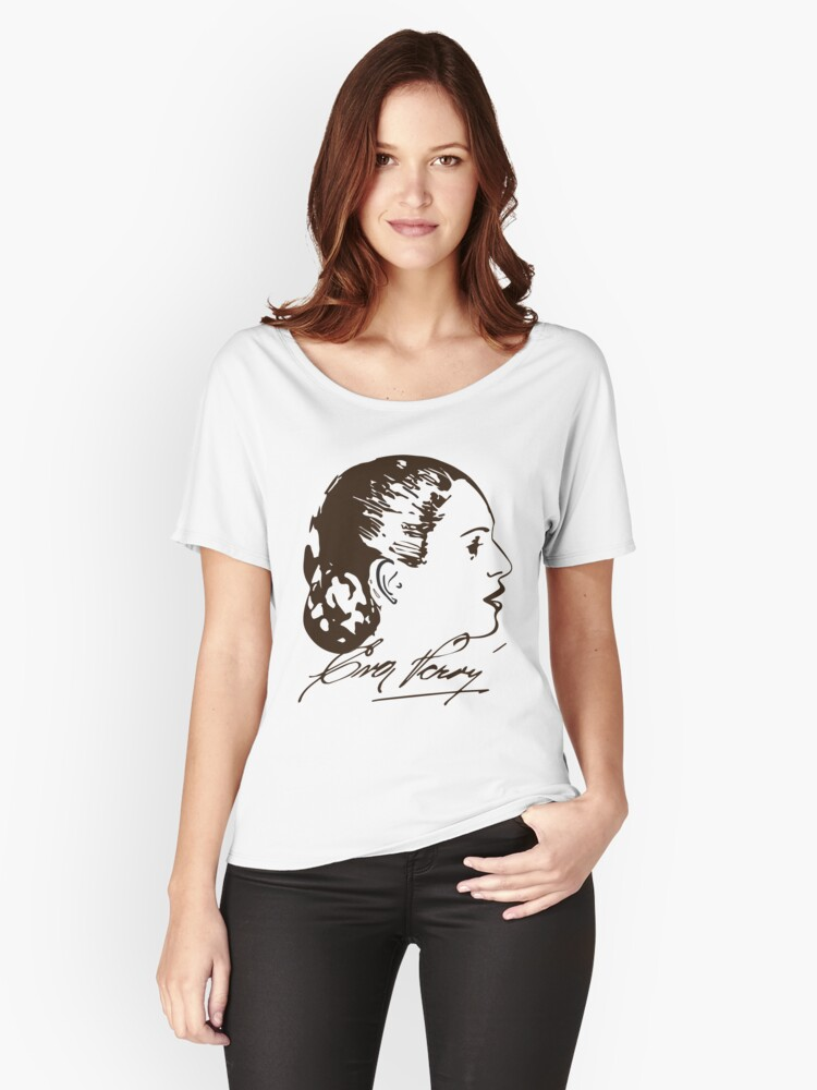 Eva Perón T-shirt with Real Signature Women's Relaxed Fit T-Shirt Front