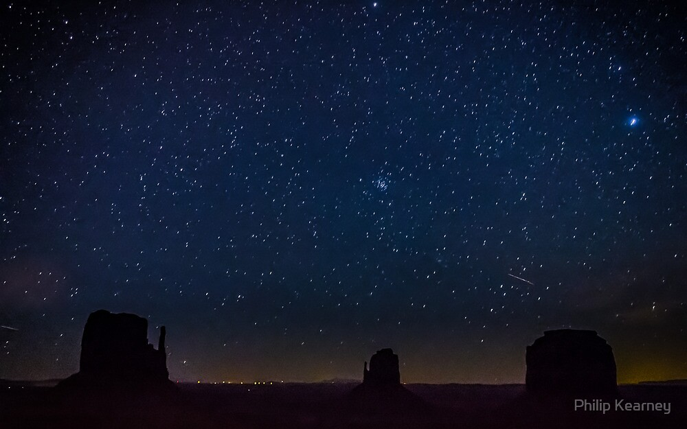 Quot Monument Valley Starry Night Quot By Philip Kearney Redbubble