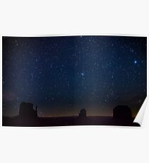 Monument Valley Starry Night Poster