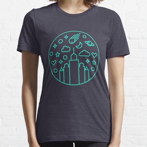 Cityscape-sky-view-line-art Essential T-Shirt