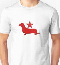 Dachshund Lovers - Red Star Unisex T-Shirt