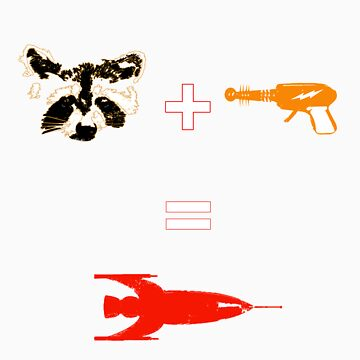 Raccoon + Laser gun = Rocket by moali