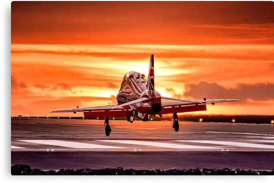 Red Sunset by Paul Biddles