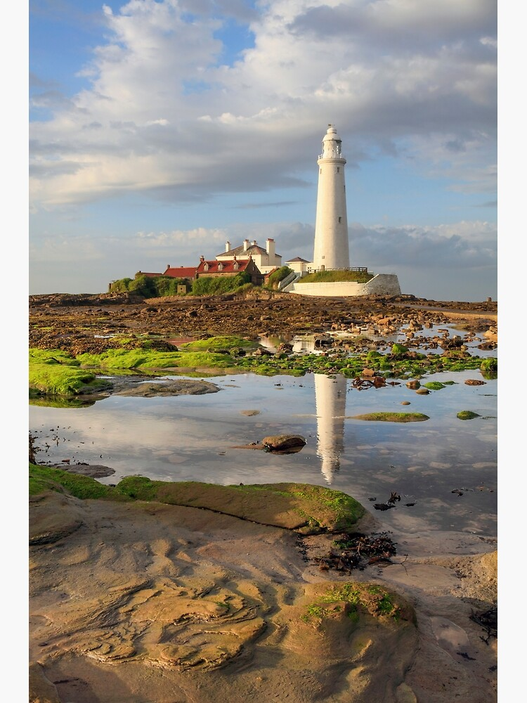 Low tide at St Mary's Lighthouse  by bitm2007