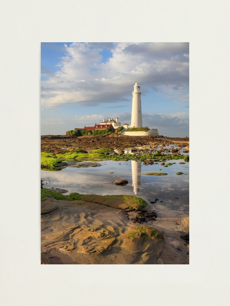 Alternate view of Low tide at St Mary's Lighthouse  Photographic Print