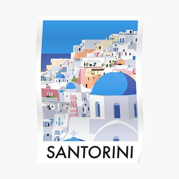 Santorini Travel Poster Poster