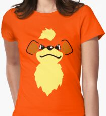 Flat growlithe Women's Fitted T-Shirt