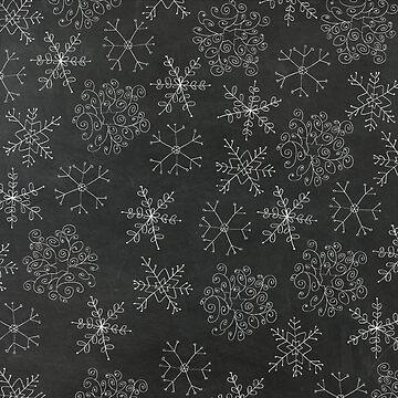 Chalkboard Snowflakes by joshbar