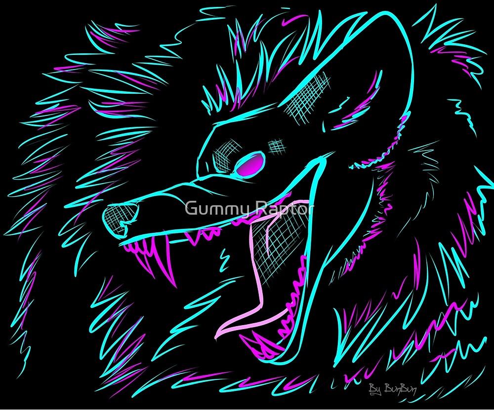 Neon Wolf by Gummy Raptor