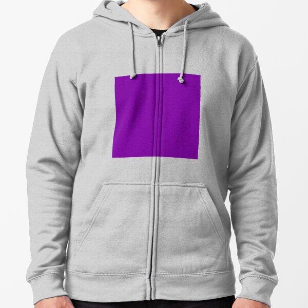 Purple Color Zipped Hoodie