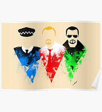 Three Flavours Cornetto Poster