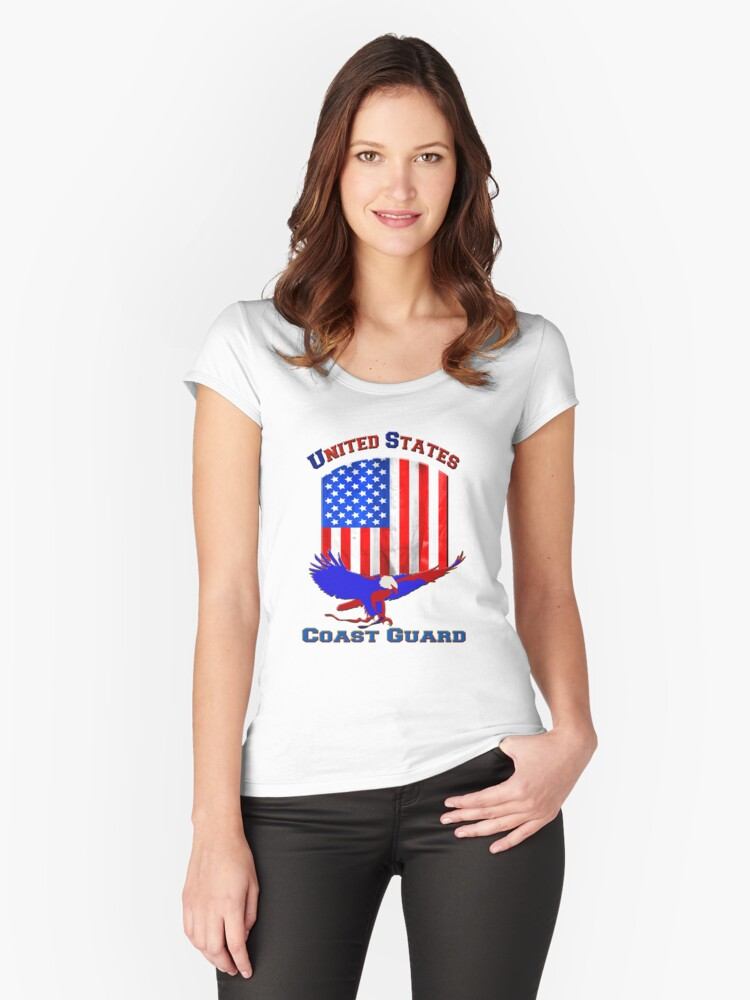 United States Coast Guard Women's Fitted Scoop T-Shirt Front