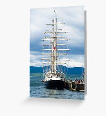 Ship, Sailing vessel, SV Tenacious, Docked, North pier, Oban  Greeting Card