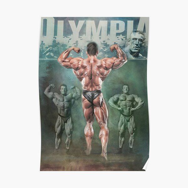 Dorian Yates Mr Olympia Bodybuilding Artwork Poster