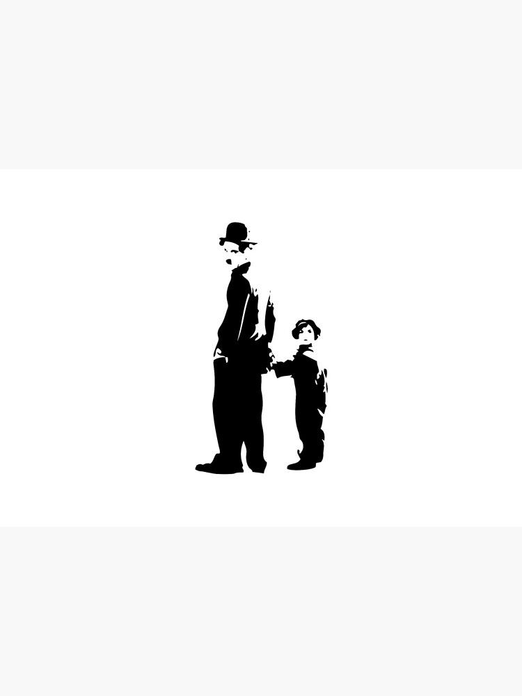 Charlie Chaplin - The Kid 1921 - Obra de arte para la pared, pósters, impresiones, camisetas, bolsos, hombres, mujeres, niños de clothorama