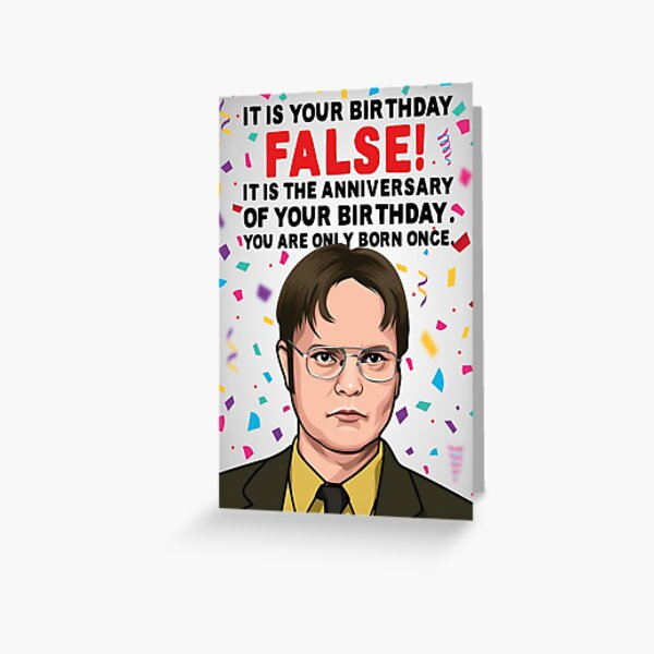 The Office Birthday Card | Dwight Schrute Birthday Card Greeting Card