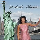 Michelle Obama and the Statue of Liberty by Dulcina