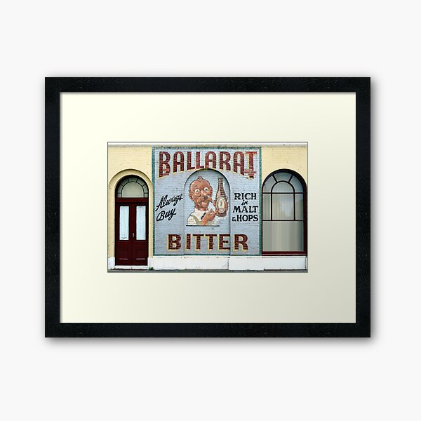 Ballarat Bitter, Ballarat, Victoria, Australia Framed Art Print