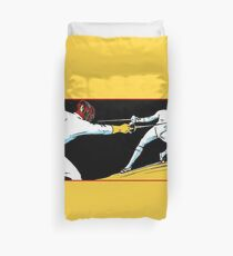 Fechten Retro Vintage-Stil zeichnen Bettbezug