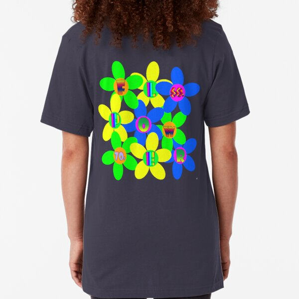 Flower Power 60s-70s T (back) Slim Fit T-Shirt