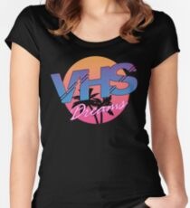 VHS Dreams Summer Logo Women's Fitted Scoop T-Shirt