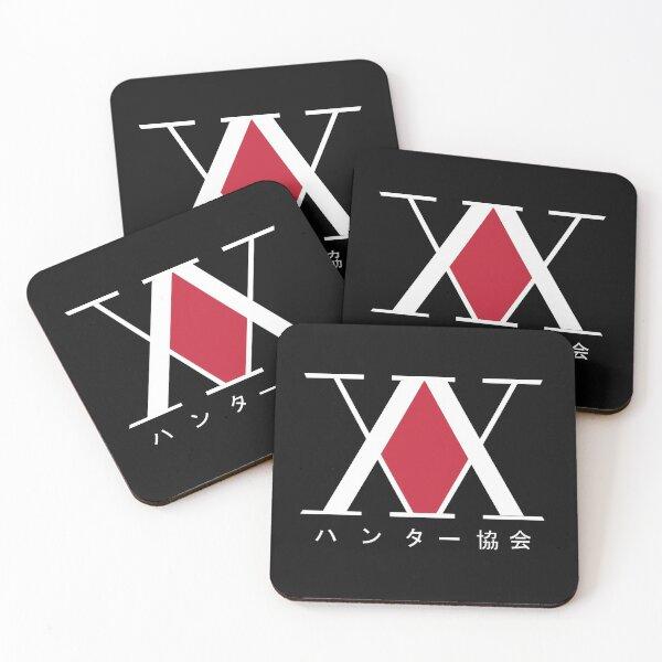 Hunter x Hunter logo Black & White KITE Coasters (Set of 4)