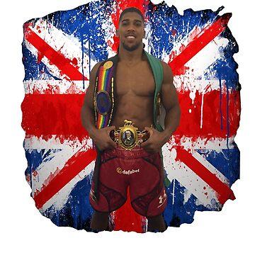 Anthony Joshua Boxing British Flag by RighteousOnix