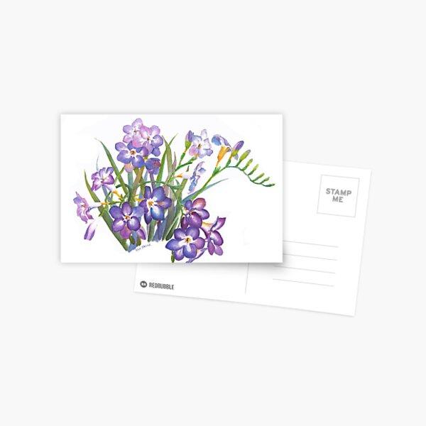 Purple Freesia in Spring Postcard