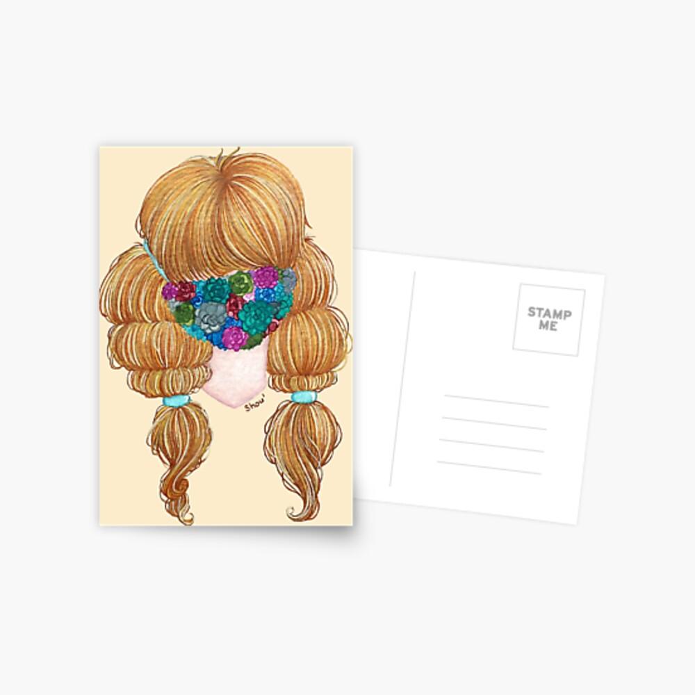 Succulents masked Postcard