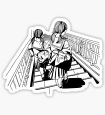 Japanese School Girls Sticker