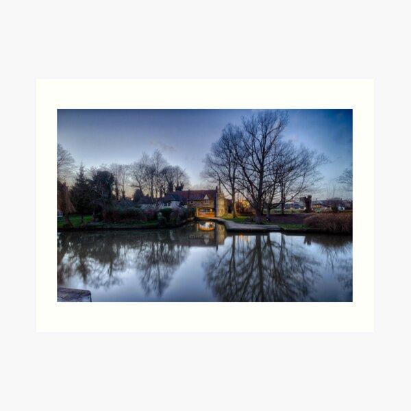 Pulls Ferry, Norwich Art Print