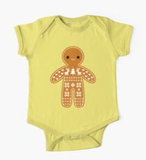 Sweater Pattern Gingerbread Cookie One Piece - Short Sleeve